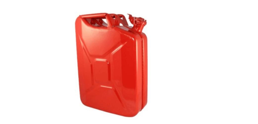20 Liter (5.2 gallons) NATO Jerry can for gas, diesel, kerosene (RED)